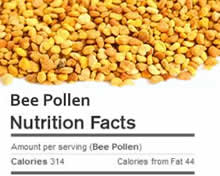 Bee Pollen Nutrition Facts