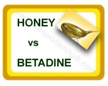 Honey or Betadine